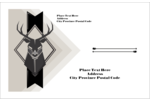 Choose pre-designed Letterpress Masculine Buck templates for your next custom project.