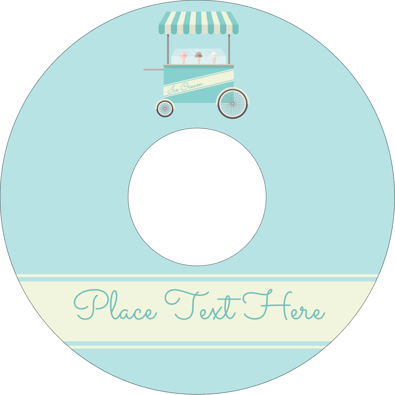 "4.65"" CD-DVD Label - Ice Cream Cart"
