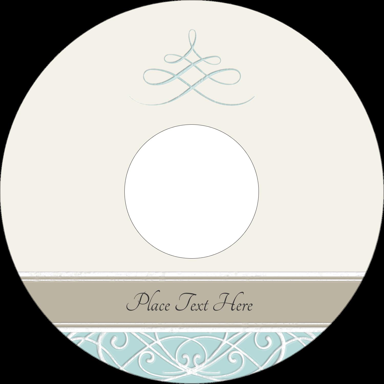 "4.65"" CD-DVD Label - Letterpress Elegant"