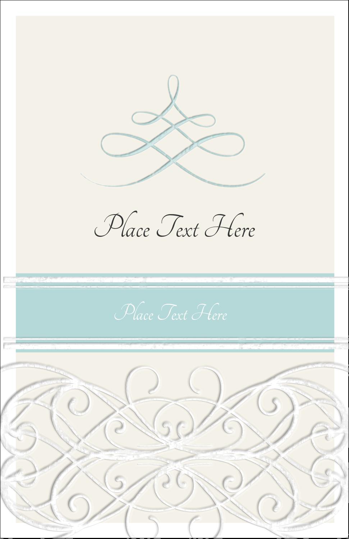 "5"" x 8½"" Half Fold Card - Letterpress Elegant"