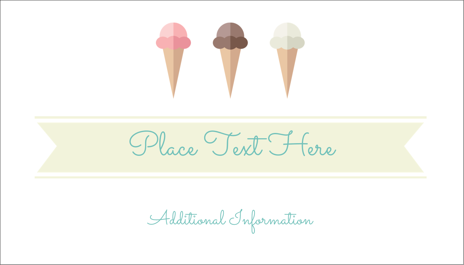 "2"" x 3½"" Business Card - Ice Cream Cart"