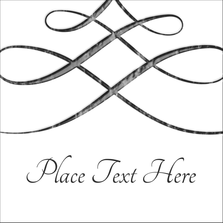 "2"" x 2"" Sqaure Label - Letterpress Elegant"