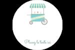 Chariot à crème glacée Étiquettes arrondies - gabarit prédéfini. <br/>Utilisez notre logiciel Avery Design & Print Online pour personnaliser facilement la conception.