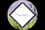 Champ de lavande Étiquettes arrondies - gabarit prédéfini. <br/>Utilisez notre logiciel Avery Design & Print Online pour personnaliser facilement la conception.
