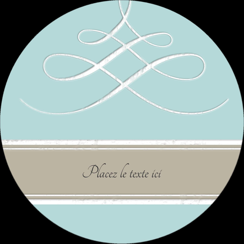 """3"""" x 2¼"""" Étiquettes arrondies - Typographie élégante"""