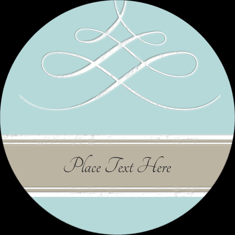 "2½"" Round Label - Letterpress Elegant"