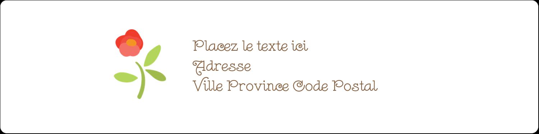 Baume à lèvres campagne Étiquettes d'adresse - gabarit prédéfini. <br/>Utilisez notre logiciel Avery Design & Print Online pour personnaliser facilement la conception.