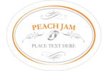 Create your own personalized jam labels with calligraphy swirls and designs of peaches