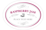 Create your own personalized jam labels with calligraphy swirls and designs of raspberry