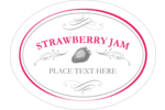 Create your own personalized jam labels with calligraphy swirls and designs of strawberries