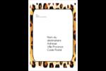 Imprimé léopard Étiquettes D'Adresse - gabarit prédéfini. <br/>Utilisez notre logiciel Avery Design & Print Online pour personnaliser facilement la conception.