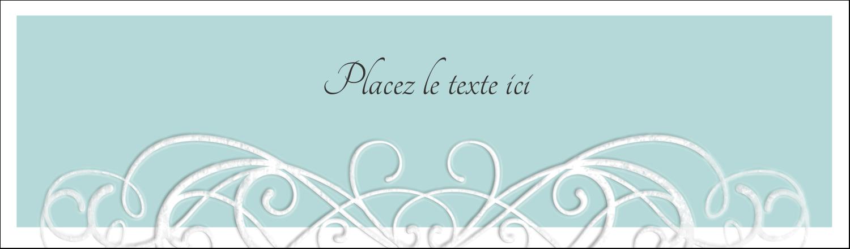 """3½"""" x 11"""" Affichette - Typographie élégante"""