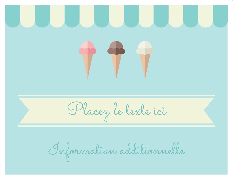 """8½"""" x 11"""" Cartes Et Articles D'Artisanat Imprimables - Chariot à crème glacée"""