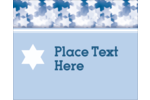 pre-designed Star of David templates work well for a variety of customized projects.