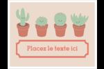 Plantes en pot fantaisistes Cartes Et Articles D'Artisanat Imprimables - gabarit prédéfini. <br/>Utilisez notre logiciel Avery Design & Print Online pour personnaliser facilement la conception.