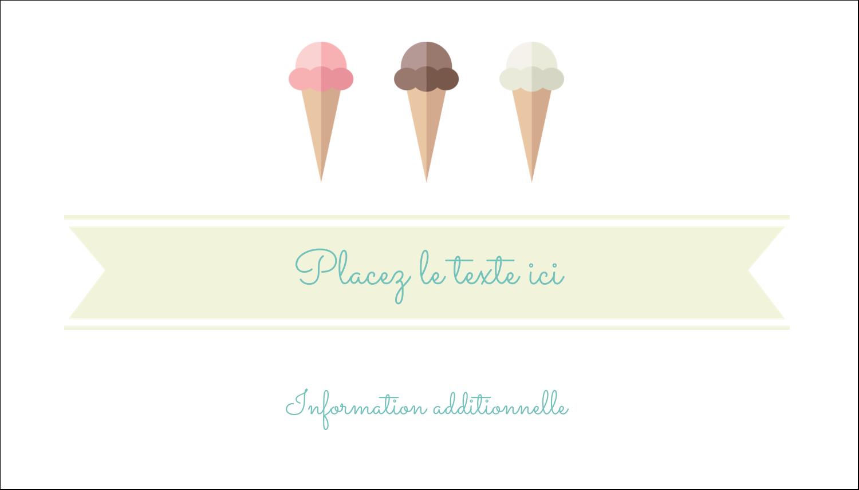 """2"""" x 3½"""" Carte d'affaire - Chariot à crème glacée"""