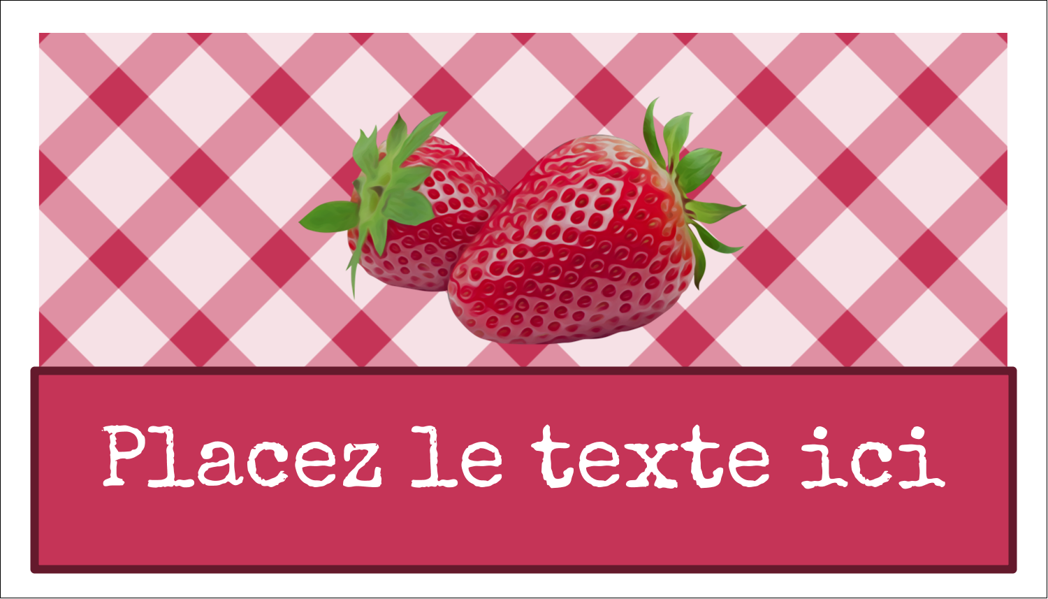 "2"" x 3½"" Carte d'affaire - Confiture"