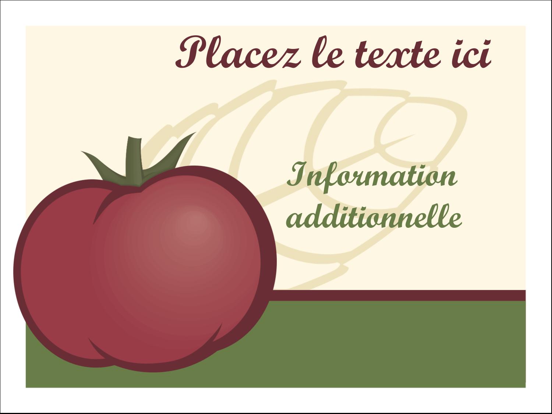 Tomate italienne Badges - gabarit prédéfini. <br/>Utilisez notre logiciel Avery Design & Print Online pour personnaliser facilement la conception.