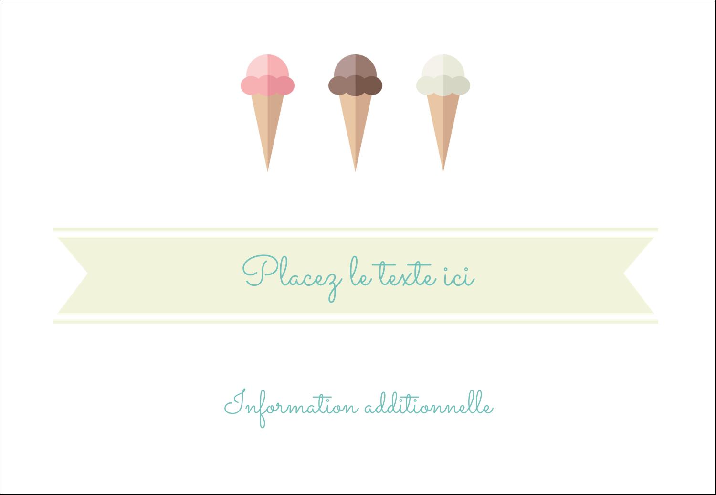 """1¼"""" Étiquettes à codage couleur - Chariot à crème glacée"""