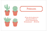 Plantes en pot fantaisistes Étiquettes à codage couleur - gabarit prédéfini. <br/>Utilisez notre logiciel Avery Design & Print Online pour personnaliser facilement la conception.
