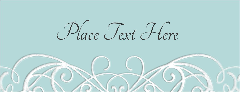 "1-7/16"" x 3¾"" Tent Card - Letterpress Elegant"