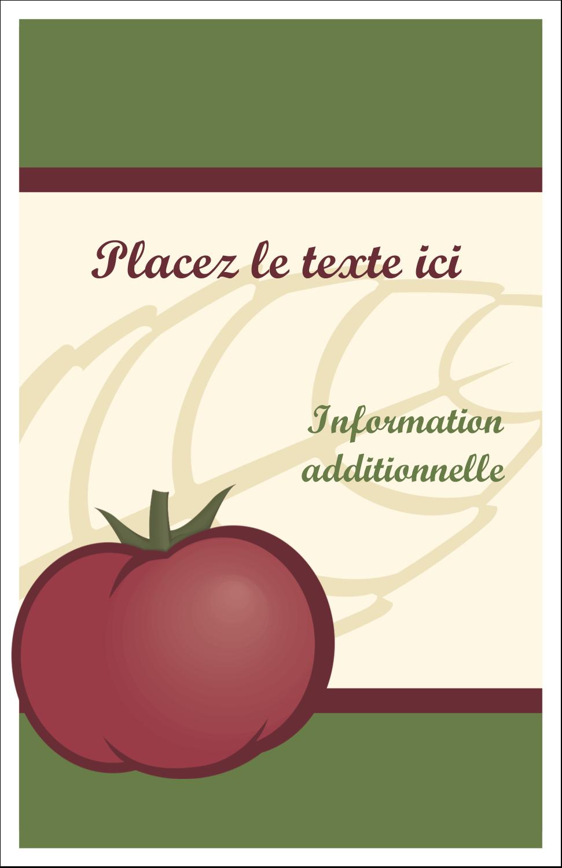 Tomate italienne Reliures - gabarit prédéfini. <br/>Utilisez notre logiciel Avery Design & Print Online pour personnaliser facilement la conception.