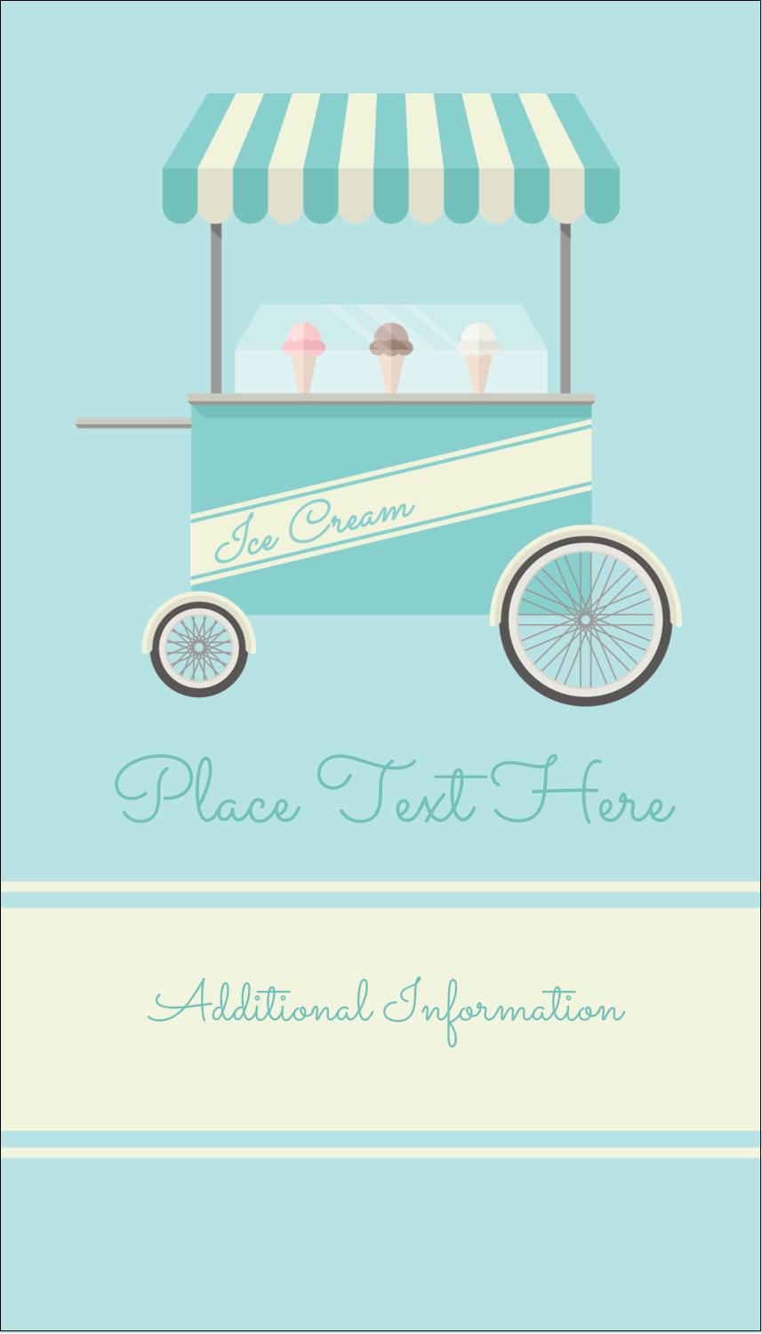 "3½"" x 2"" Business Card - Ice Cream Cart"