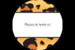 Imprimé léopard Étiquettes Voyantes - gabarit prédéfini. <br/>Utilisez notre logiciel Avery Design & Print Online pour personnaliser facilement la conception.