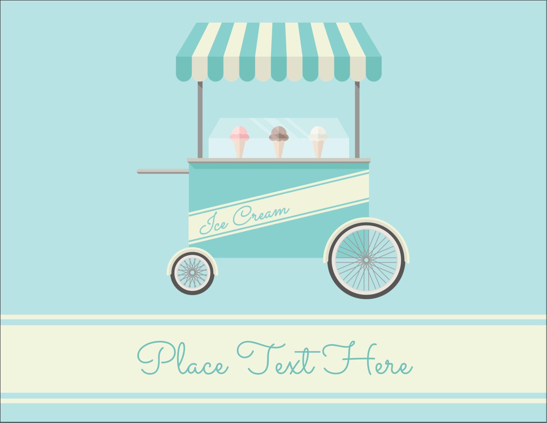 "4¼"" x 5½"" Postcard - Ice Cream Cart"