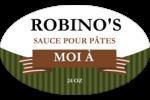 Sauce italienne à la viande pour pâtes Étiquettes carrées - gabarit prédéfini. <br/>Utilisez notre logiciel Avery Design & Print Online pour personnaliser facilement la conception.