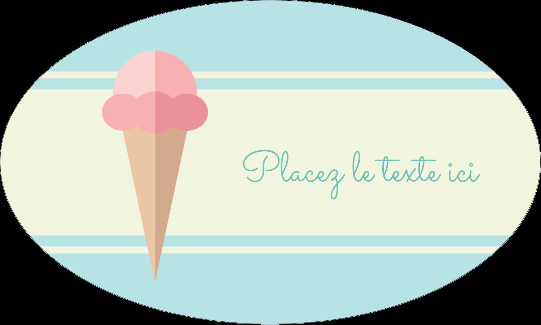 """1½"""" x 1½"""" Étiquettes carrées - Chariot à crème glacée"""