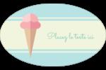 Chariot à crème glacée Étiquettes carrées - gabarit prédéfini. <br/>Utilisez notre logiciel Avery Design & Print Online pour personnaliser facilement la conception.