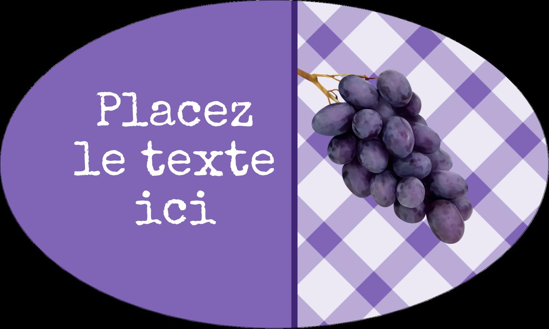 """1½"""" x 1½"""" Étiquettes carrées - Confiture"""