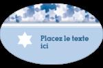 Étoile de David Étiquettes carrées - gabarit prédéfini. <br/>Utilisez notre logiciel Avery Design & Print Online pour personnaliser facilement la conception.