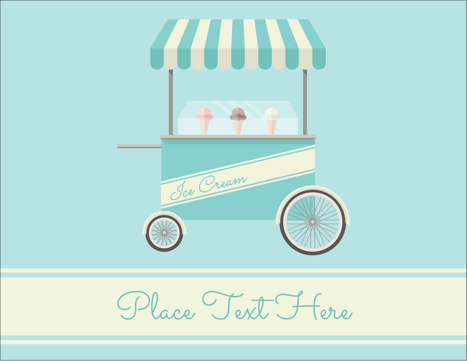 "5½"" x 4¼"" Postcard - Ice Cream Cart"