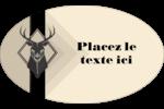 Chevreuils pour typographie Étiquettes carrées - gabarit prédéfini. <br/>Utilisez notre logiciel Avery Design & Print Online pour personnaliser facilement la conception.