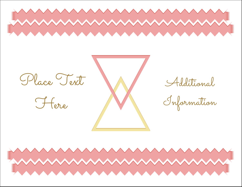 "5½"" x 4¼"" Postcard - Letterpress Modern Triangles"