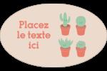 Plantes en pot fantaisistes Étiquettes carrées - gabarit prédéfini. <br/>Utilisez notre logiciel Avery Design & Print Online pour personnaliser facilement la conception.