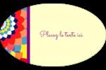 Baume à lèvres kaléidoscope Étiquettes carrées - gabarit prédéfini. <br/>Utilisez notre logiciel Avery Design & Print Online pour personnaliser facilement la conception.