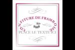 Confiture de framboises à l'ancienne Étiquettes carrées - gabarit prédéfini. <br/>Utilisez notre logiciel Avery Design & Print Online pour personnaliser facilement la conception.