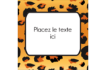 Imprimé léopard Étiquettes carrées - gabarit prédéfini. <br/>Utilisez notre logiciel Avery Design & Print Online pour personnaliser facilement la conception.