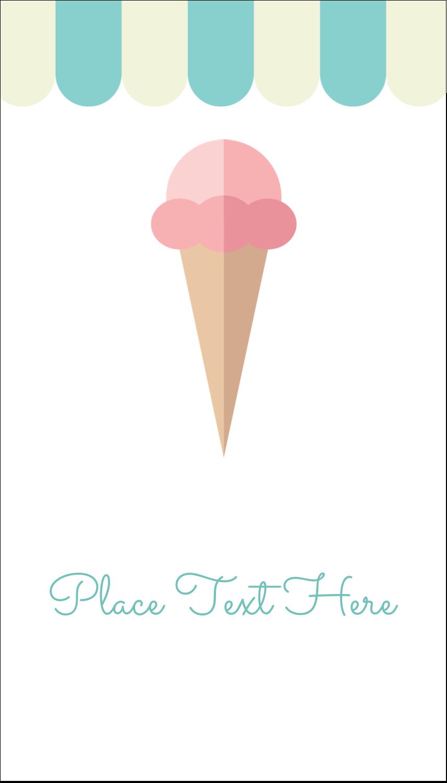 "3½"" x 2"" Business Card - Ice Cream Cart"