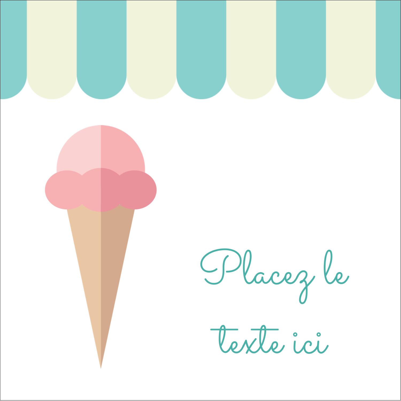 """9¾"""" x 1¼"""" Étiquettes enveloppantes - Chariot à crème glacée"""