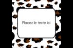 Imprimé léopard Étiquettes enveloppantes - gabarit prédéfini. <br/>Utilisez notre logiciel Avery Design & Print Online pour personnaliser facilement la conception.