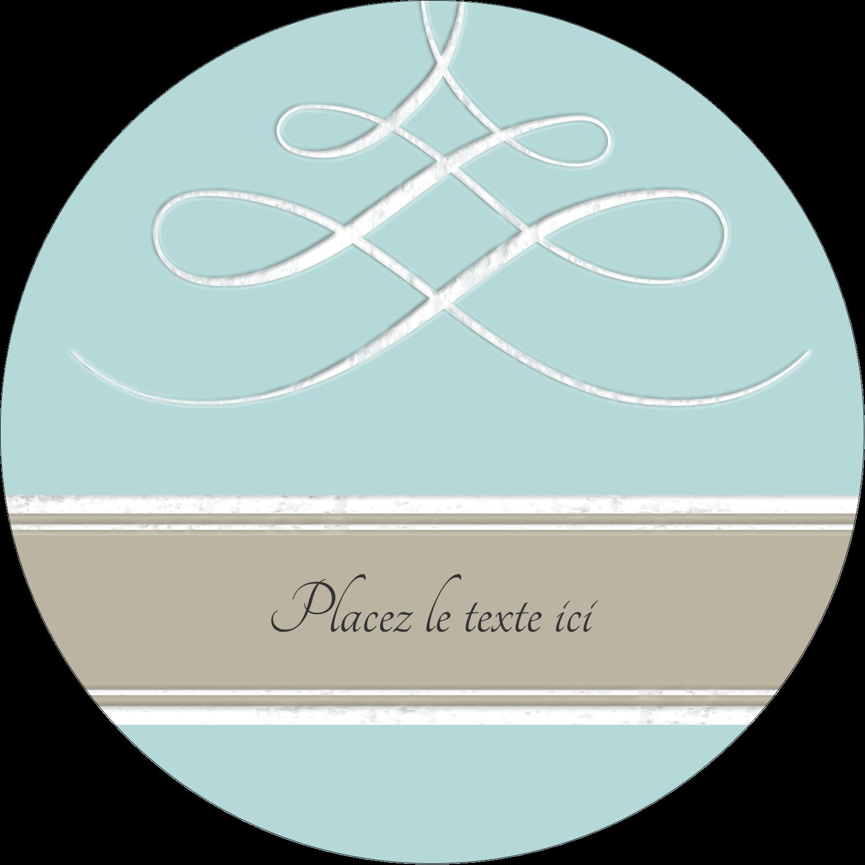 """2½"""" Diameter Étiquettes rondes - Typographie élégante"""