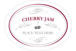Create your own personalized jam labels with calligraphy swirls and designs of cherries