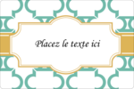 Tuile marocaine sarcelle Étiquettes rectangulaires - gabarit prédéfini. <br/>Utilisez notre logiciel Avery Design & Print Online pour personnaliser facilement la conception.