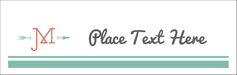 "3½"" x 11"" Tent Card - Monogram"