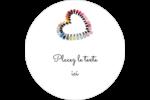 Vernis à ongles en cœur Étiquettes de classement - gabarit prédéfini. <br/>Utilisez notre logiciel Avery Design & Print Online pour personnaliser facilement la conception.