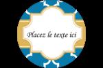 Tuile marocaine bleue Étiquettes arrondies - gabarit prédéfini. <br/>Utilisez notre logiciel Avery Design & Print Online pour personnaliser facilement la conception.
